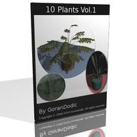 10 plants 3d model