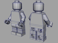 lego legoman 3d model