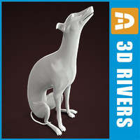3ds porcelain dogs