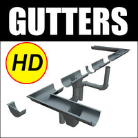 Gutters HD Rain Water Set