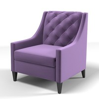 3d model chair armchair tufted