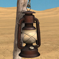 oil lamp 3d 3ds