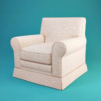 treci salotti barbara armchair 3d max