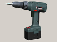 drilling screwdriver 3d 3ds