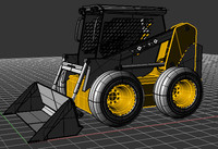 3d skid steer model