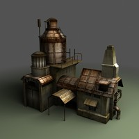 steampunk building