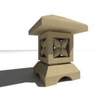 bali lamp garden 3d model