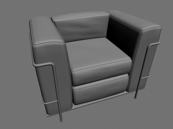 black leather 3d model - Black Leather Chair... by Alted