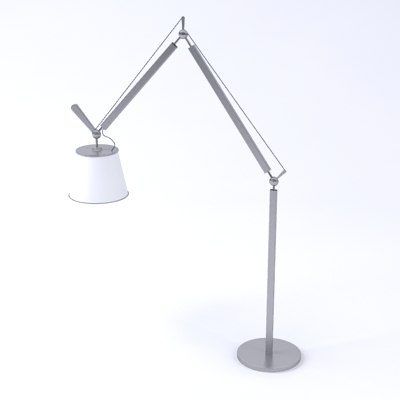 artemide tolomeo mega floor lamp 3d model
