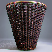 Wicker laundry / bin basket