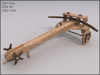 Ballista, Low Poly, Textured