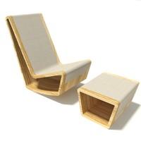 designer rocker footstool max