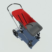 3d buggy toddlers model