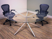 Circular Glass meeting table