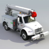 fl80 line truck drill 3d model