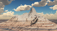 3d model mountain terrain landscape