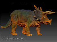 Triceratops Dinosaur low polygon
