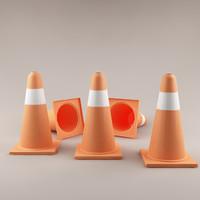 3d max traffic cone