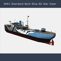 merchant shipping vessels war 3d model