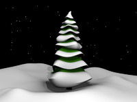 Cartoony Winter Spruce