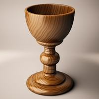 3d chalice wood model