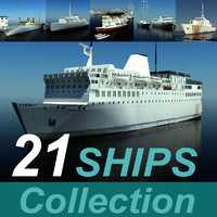 21 ship model collection