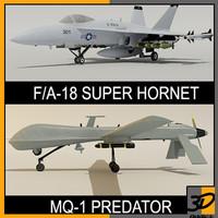 3d model fa-18c super hornet