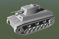 3d model panzer tank