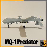 3d model mq-1 predator