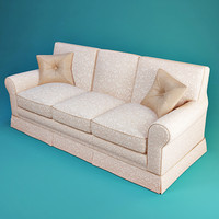 treci salotti barbara sofa 3d model