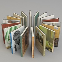 books rhinoceros 3d model