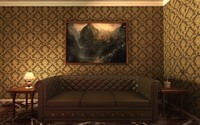 luxurious leather sofa 3d max