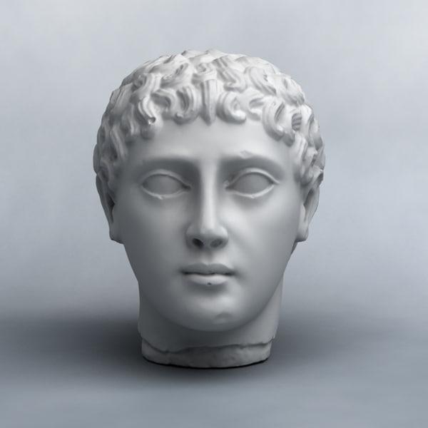 scan statue head 3d model