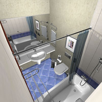 hotel bath bathroom 3d model