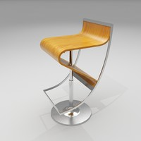 106 series bar stool 3d model