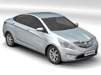 hyundai verna 3d model