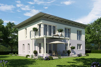 photoreal villa house 3d model