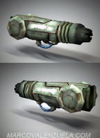 weapon arm cannon gun 3d model