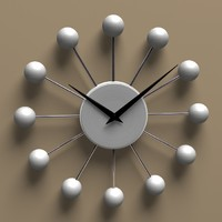ball wall clock 3d model