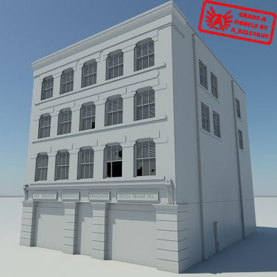 Building 1 OLD NoMat - HD Old Abandoned Building - 3ds max 2010 - No Materials