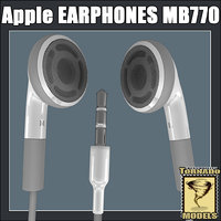 apple earphones mb770 3d lwo
