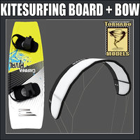 kitesurfing board bow 3d model