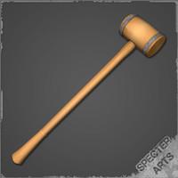 3d wooden mallet