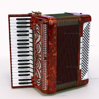 accordion hohner 3d model