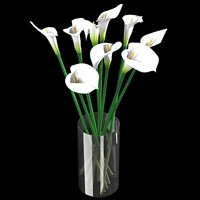white calla lilies flower bouquet vase 30