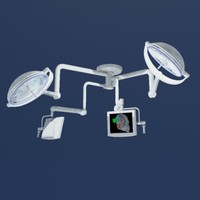 Surgical lights with monitors