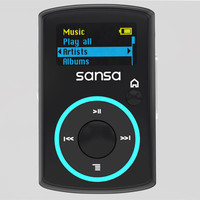 3d model sandisk sansa player