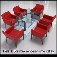 chairs table 3d model