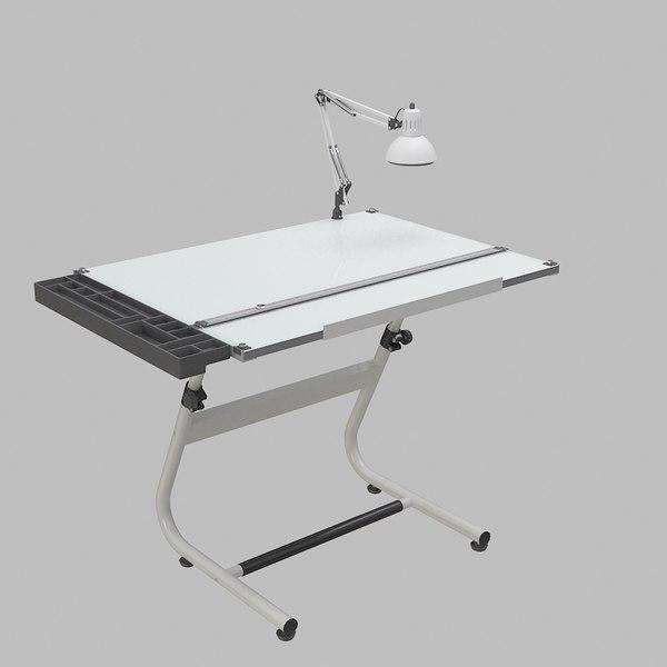 Drafting Table 3d Model