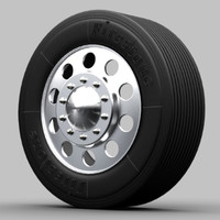 truck wheel 3ds